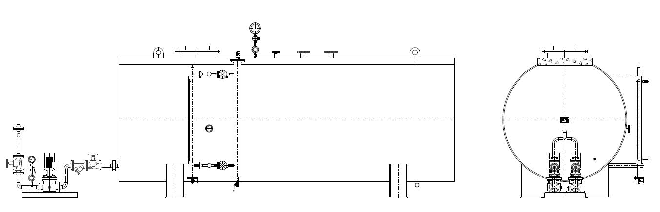 Бак конденсатный NV-K и система сбора и перекачки конденсата