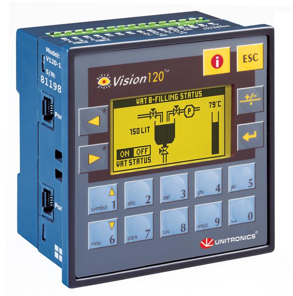 Свободно программируемый контроллер Unitronics Vision 120